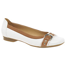Buy Gabor Indiana Pumps, White/Caramel Online at johnlewis.com
