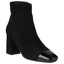 Buy L.K. Bennett Wyatt Ankle Boots, Black Suede Online at johnlewis.com