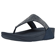 Buy FitFlop Slinky Rokkit Toe Post Sandals, Navy Online at johnlewis.com