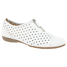 Buy Gabor Gibson Perforated Zip Detail Pumps, White Online at johnlewis.com