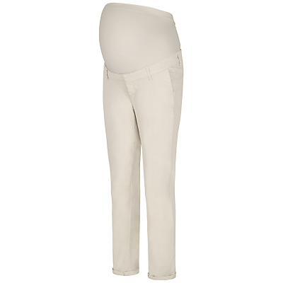 Séraphine Olga Over Bump Chino Trousers, Natural
