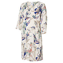 Buy Mamalicious Rinse Tropical Flower Print Maternity Dress, White/Multi Online at johnlewis.com