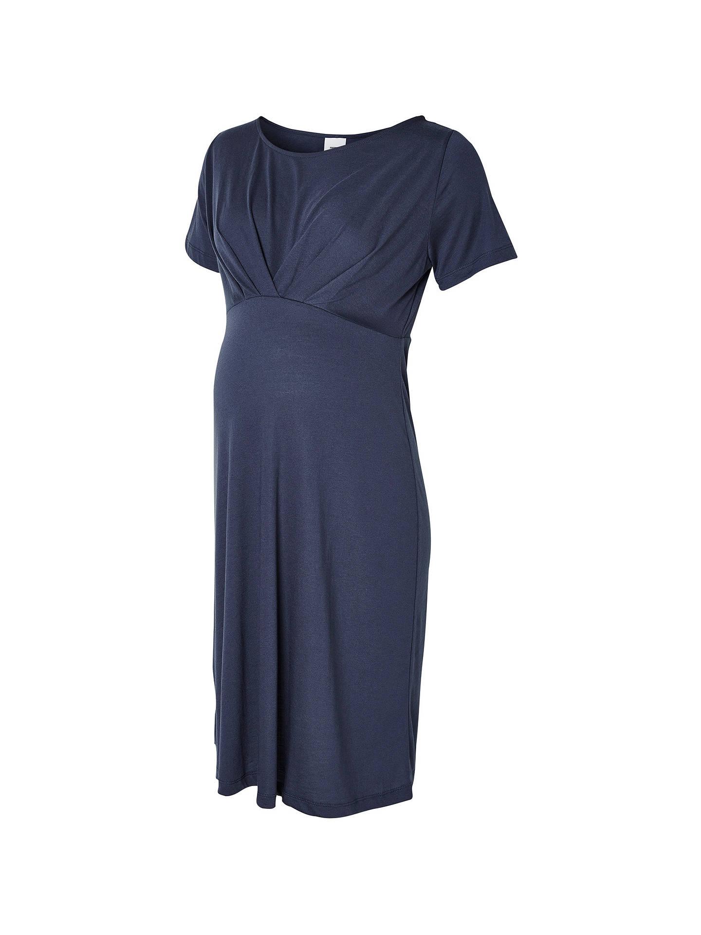 071f809962962 Buy Mamalicious Sella Short Sleeve Maternity Jersey Dress, Blue, S Online  at johnlewis.