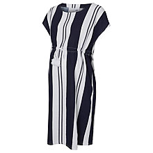 Buy Mamalicious Short Sleeve Beach Maternity Dress, Blue/White Online at johnlewis.com