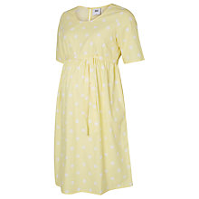 Buy Mamalicious Destiny Short Sleeve Spot Maternity Dress, Yellow Online at johnlewis.com