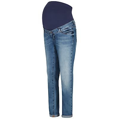 Séraphine Carson Overbump Maternity Boyfriend Jeans, Blue Denim