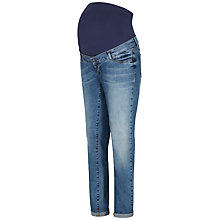 Buy Séraphine Carson Overbump Maternity Boyfriend Jeans, Blue Denim Online at johnlewis.com