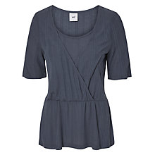 Buy Mamalicious Juliette Tess Jersey Maternity Nursing Top, Blue Online at johnlewis.com
