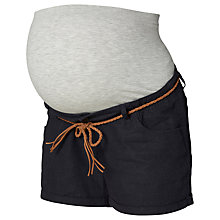 Buy Mamalicious Braided Belt Maternity Shorts, Blue Online at johnlewis.com