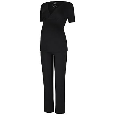 Séraphine Anette Bamboo Maternity Pyjama Set, Black
