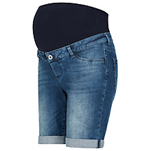 Buy Séraphine April Longline Maternity Shorts, Light Blue Online at johnlewis.com