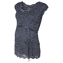 Buy Mamalicious Mivarna Lace Woven Top, Blue Online at johnlewis.com