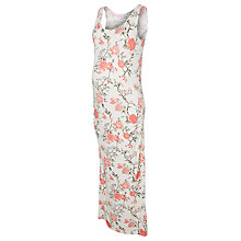 Buy Mamalicious Delmira Floral Maxi Maternity Dress, White/Multi Online at johnlewis.com