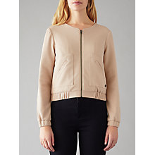 Buy Numph Jarla Textured Bomber Jacket, Pink Online at johnlewis.com