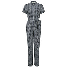 Buy People Tree Livia Jumpsuit, Navy/White Online at johnlewis.com
