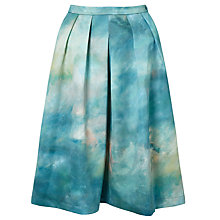 Buy Deborah Campbell Atelier Summer Breeze Abstract Skirt, Blue/Yellow Online at johnlewis.com