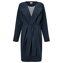 Buy People Tree Milena Wrap Coat, Navy Online at johnlewis.com