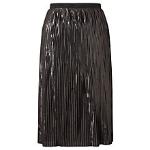 Buy Minimum Vinni Pleated Skirt, Black Online at johnlewis.com