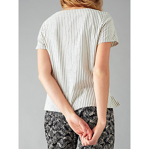 Buy People Tree Delaney Stripe Top, White Online at johnlewis.com