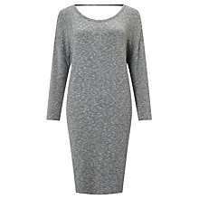 Buy Numph Laressa Cut Out Back Dress, Grey Melange Online at johnlewis.com