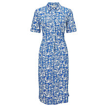 Buy People Tree Gorilla Print Shirt Dress, Blue/White Online at johnlewis.com