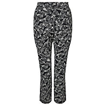 Buy People Tree Monica Trousers, Black/White Online at johnlewis.com