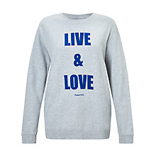 Buy People Tree Live & Love Sweatshirt, Grey/Blue Online at johnlewis.com