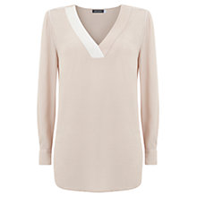 Buy Mint Velvet V-Neck Tunic, Light Pink Online at johnlewis.com