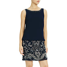 Buy Adrianna Papell Beaded Blouson Cocktail Dress, Navy Online at johnlewis.com