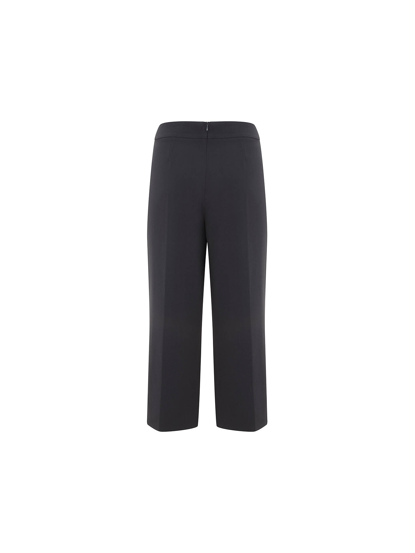 BuyMint Velvet Luxury Side Split Cropped Trousers, Blue, 6 Online at johnlewis.com