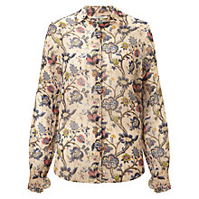 Buy Maison Scotch Sheer Floral Shirt, Neutral Online at johnlewis.com