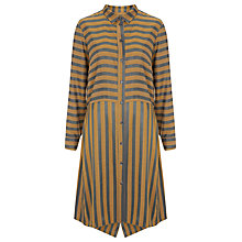 Buy Finery Parmiter Stripe Shirt Dress, Silver/Gold Online at johnlewis.com