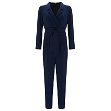 Buy Finery Lydbrook Wrap Jumpsuit, Navy Online at johnlewis.com