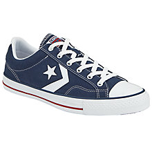 Buy Converse Star Player Ox Trainers, Red, Navy Online at johnlewis.com