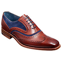 Buy Barker McClean Goodyear Welted Leather Brogue Shoes, Cedar/Blue Online at johnlewis.com