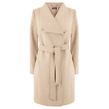 Buy Mint Velvet Wool Blend Funnel Neck Coat, Blush Pink Online at johnlewis.com