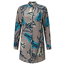 Buy East Silk Tulip Oversized Shirt, Ash Online at johnlewis.com