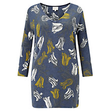 Buy East Tulip Print Jumper, Navy Online at johnlewis.com