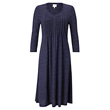 Buy East Pintuck Flared Jersey Dress, Sapphire Online at johnlewis.com