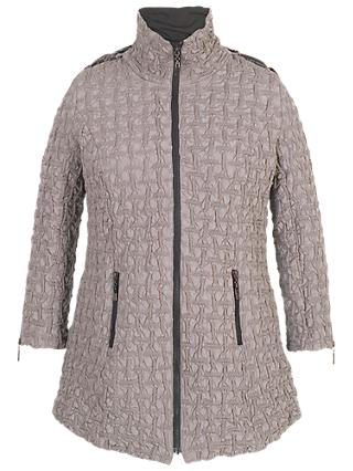Chesca Hooded Mini Bonfire Quilted Coat