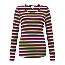 Buy East Stripe Round Neck Top, Multi Online at johnlewis.com