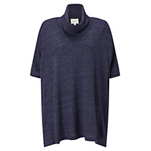 Buy East Oversized Cowl Jersey Top, Sapphire Online at johnlewis.com