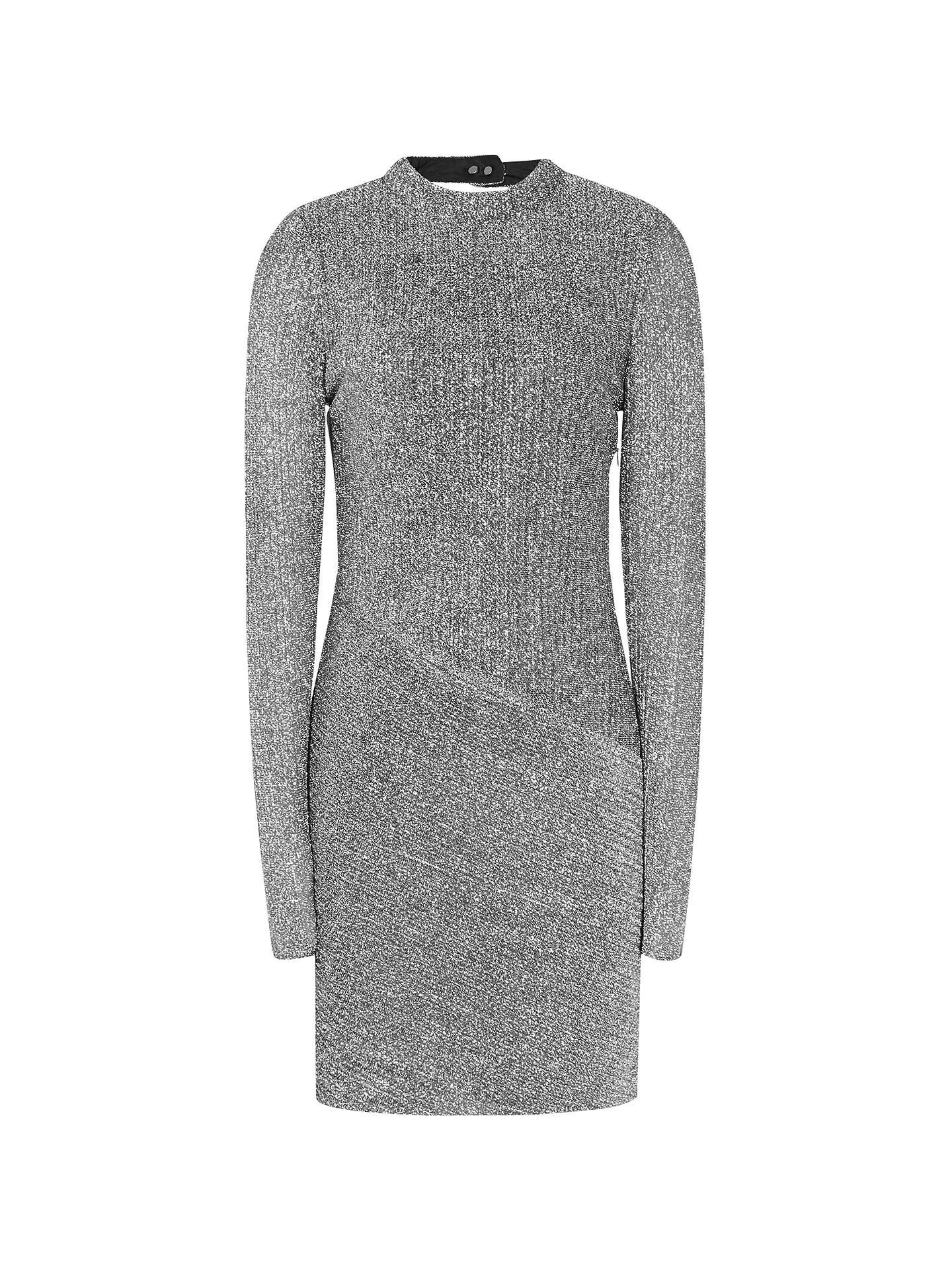 1ff7c4c3c883 Buy Reiss Candy Metallic Bodycon Dress, Silver, 6 Online at johnlewis.com  ...