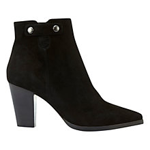 Buy Mint Velvet Lola Block Heeled Ankle Boots, Black Online at johnlewis.com