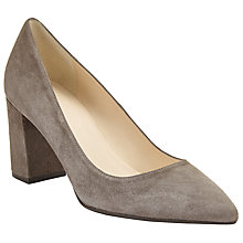 Buy John Lewis Ava Pointed Toe Court Shoes, Grey Online at johnlewis.com