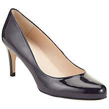 Buy John Lewis Arna Round Toe Court Shoes, Navy Patent Online at johnlewis.com
