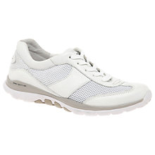 Buy Gabor Helen Extra Wide Fit Trainers, White Online at johnlewis.com