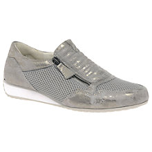 Buy Gabor Brunello Wide Zip Trainers, Taupe Online at johnlewis.com