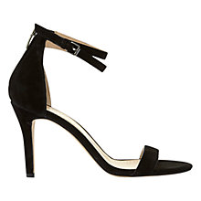 Buy Mint Velvet Fleur Stiletto Heeled Sandals, Black Suede Online at johnlewis.com