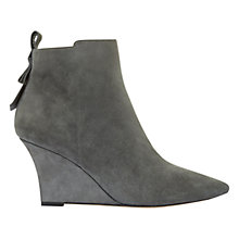 Buy Mint Velvet Amie Wedge Heeled Ankle Boots, Charcoal Online at johnlewis.com